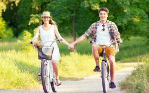 カップルで自転車